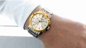 image Burberry watch on man's wrist