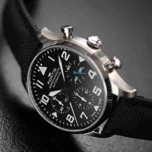 Fortis Pilot Classic Chronograph Strap - fortis watch review