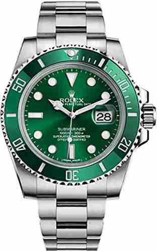 image of the green rolex submariner hulk watch