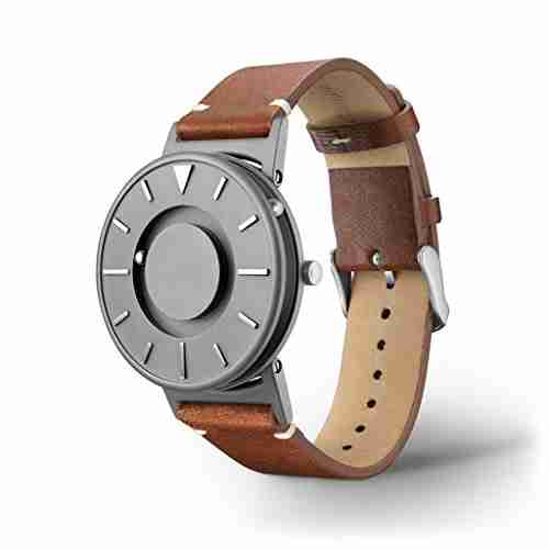 image of the eone bradley titanium classic watch with Italian leather band