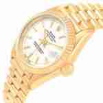 Image of the gold rolex oyster perpetual datejust 79178 watch